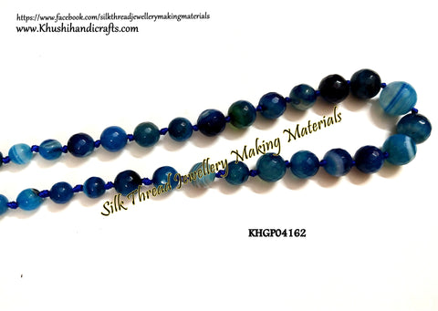 Natural Faceted Graduation Round Agates -Gemstone Beads - KHGP04162