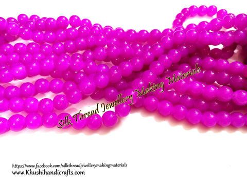 Glass beads- 10mm - Pink