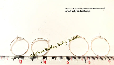 Silver Earring Hoops/Rings for making Earrings! Sold by a pack of 10 pairs