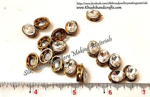 Oval Kundan stones /Kundans for Embroidery and Traditional Jewellery