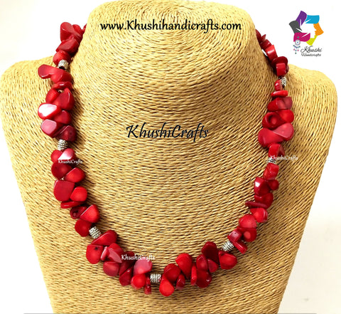 Red Designer Coral Necklace