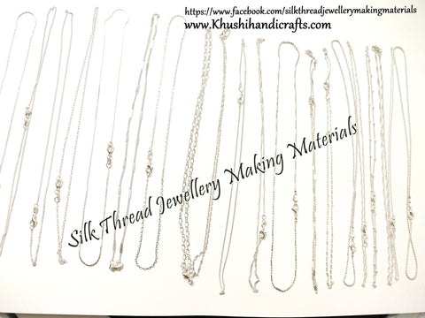 20 assorted 925 Sterling Silver Link Necklace Set Chains with Lobster Clasps used for Jewellery Making .