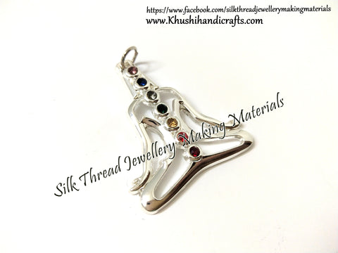 Silver Plated Yoga Healing Charka Pendant Charms.Sold per piece!