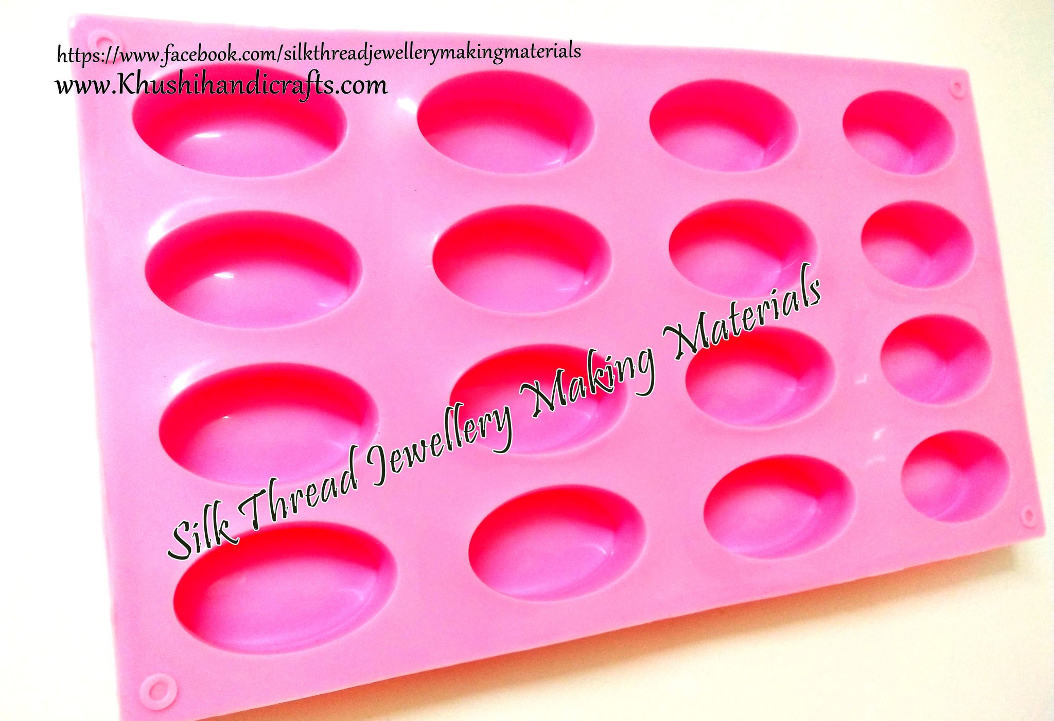 Oval silicone mold