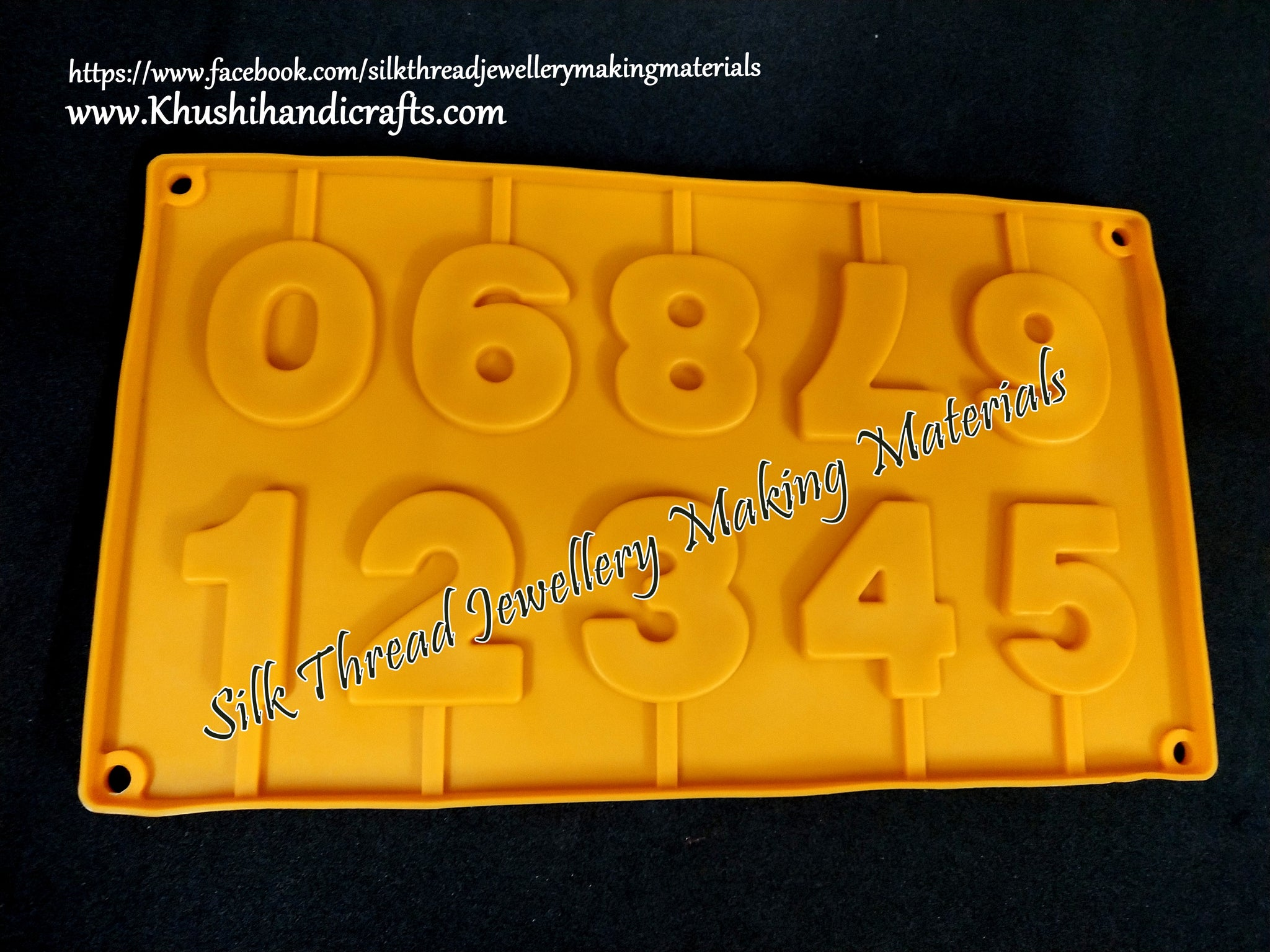Number silicone mold
