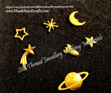 Saturn comet star Rocket Moon Resin Mold Fillers For Resin Jewellery Crafts