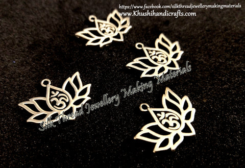 Lotus Om Symbol Charms in Antique Silver for Necklace pendants, Bracelet Jewellery Making .Sold per piece!