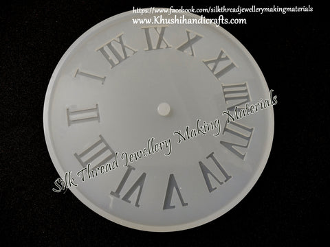 Big 12 inch Roman Letters Clock Silicone Mold for Resin crafts!