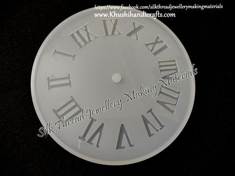 10 cm small Roman Letters Clock Craft Silicone Mold