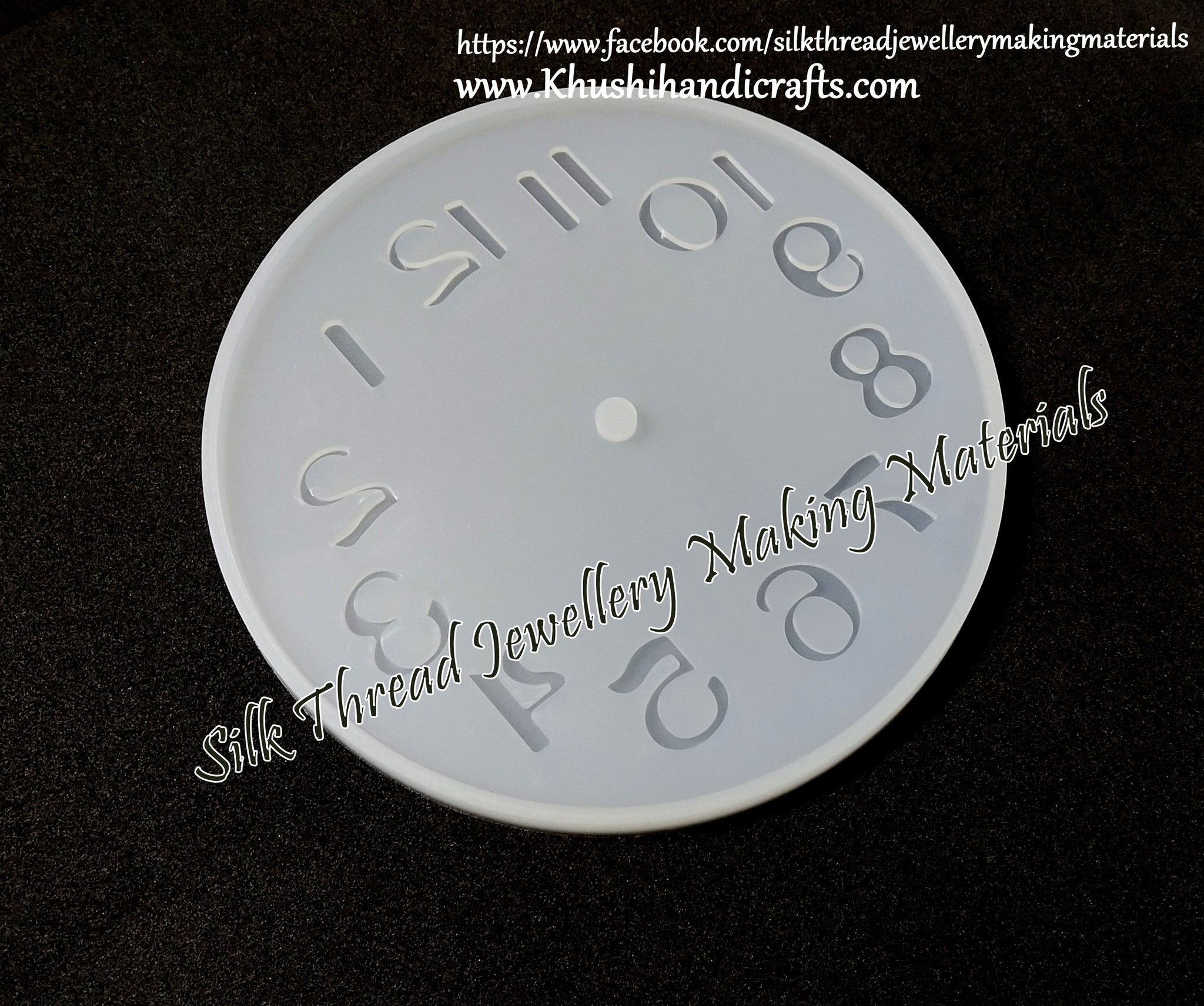 Arabic Numerals Clock Craft Silicone Mold