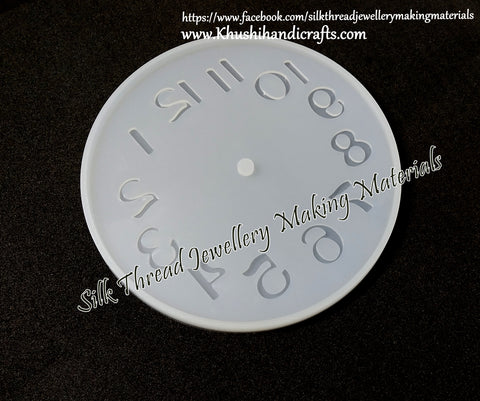 Arabic Numeral Clock Craft Silicone Mold