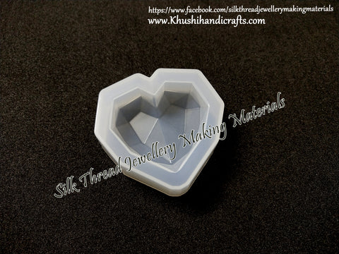 Heart Mould Silicone Mold for casting UV Resin,Epoxy resin and concrete