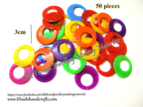 Multicolor Chandbali Earring Base 3 cm for Jumka Making/Silk Thread Jewellery Wrapping