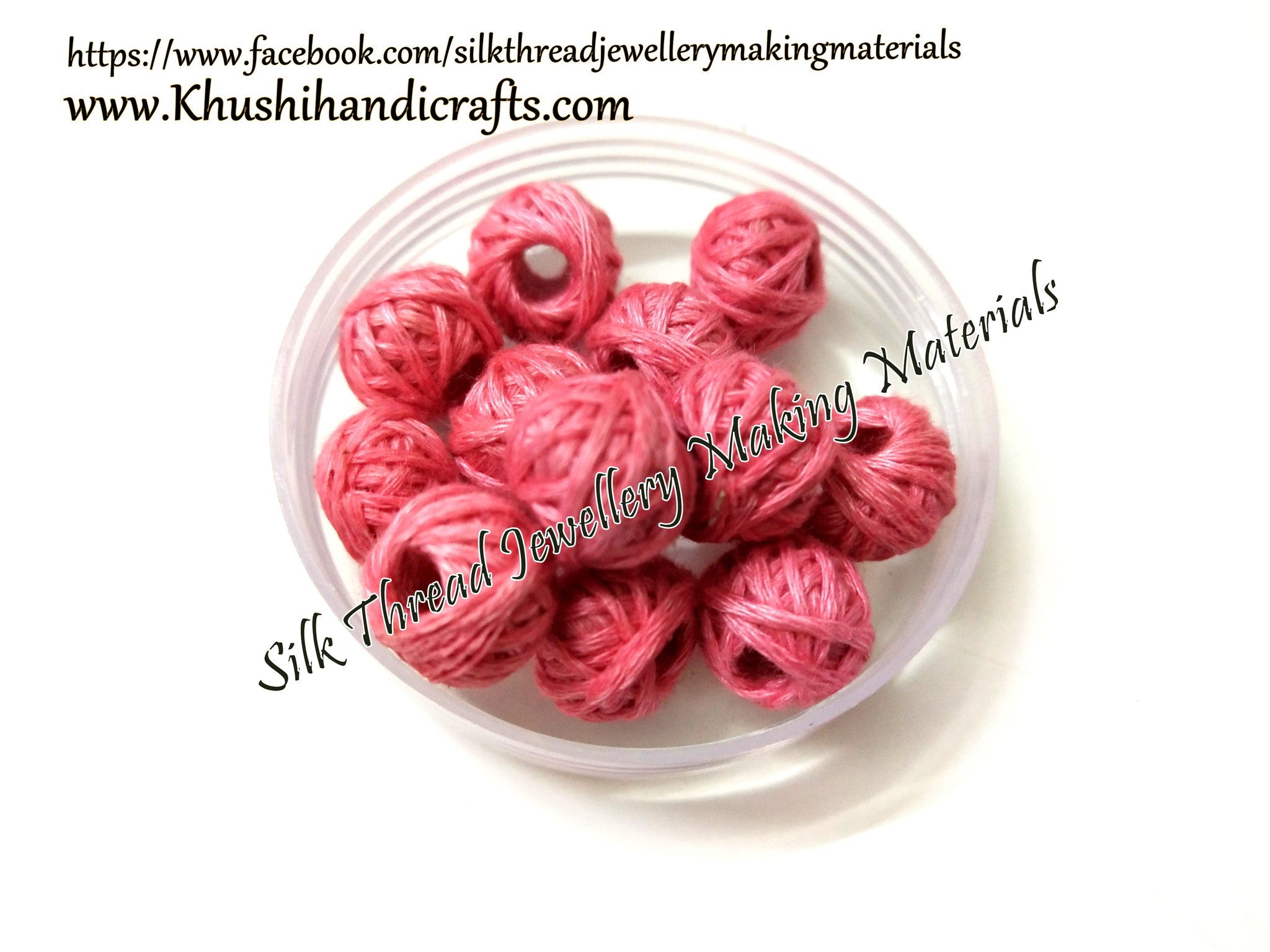 Cotton thread beads