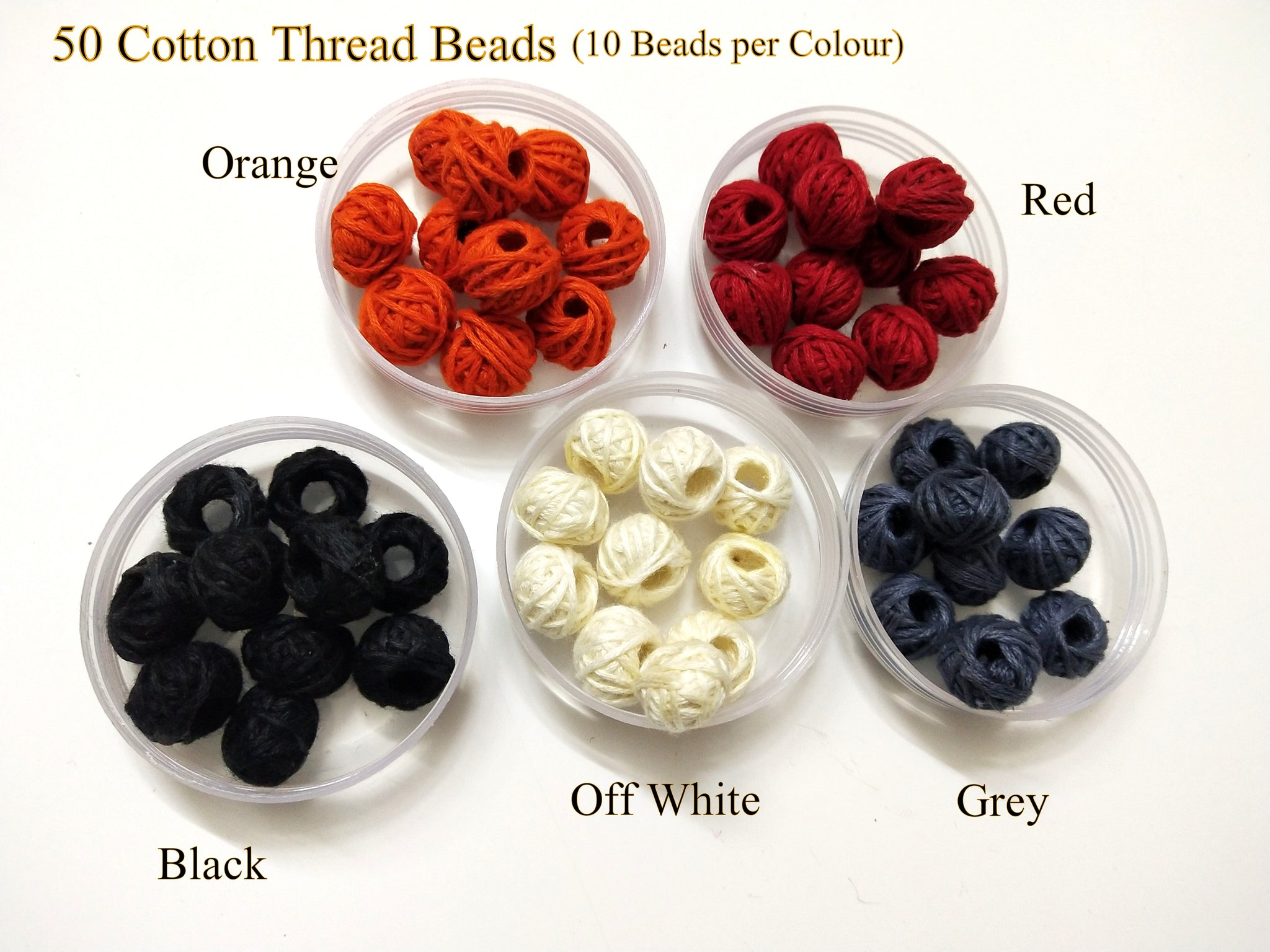 Cotton thread wrapped beads