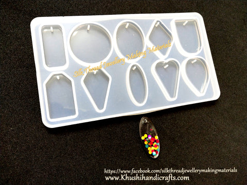 Earring Pendant Silicone Mold For Resin Crafts and Jewellery Making