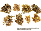 Assorted Metal studs- 500 grams -Gold / Silver for Jewellery Making