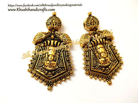 Antique Gold Lakshmi Designer Pendant P056