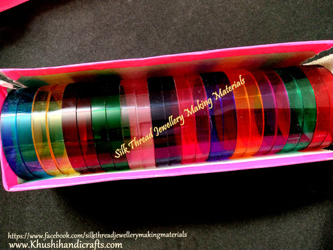 Flat Bangle Bases 10mm-Full Box for Silk thread Jewellery