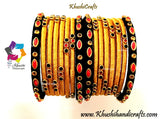 Black Gold Silk thread bangles