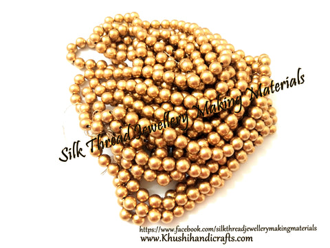 Acrylic 8mm Gold beads