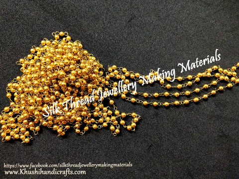 Gold linked chain 3mm.Sold per meter!