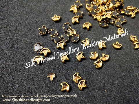 Kundan stones /Kundans - Designer Pattern 4 Gold shade. Pack of 10 grams