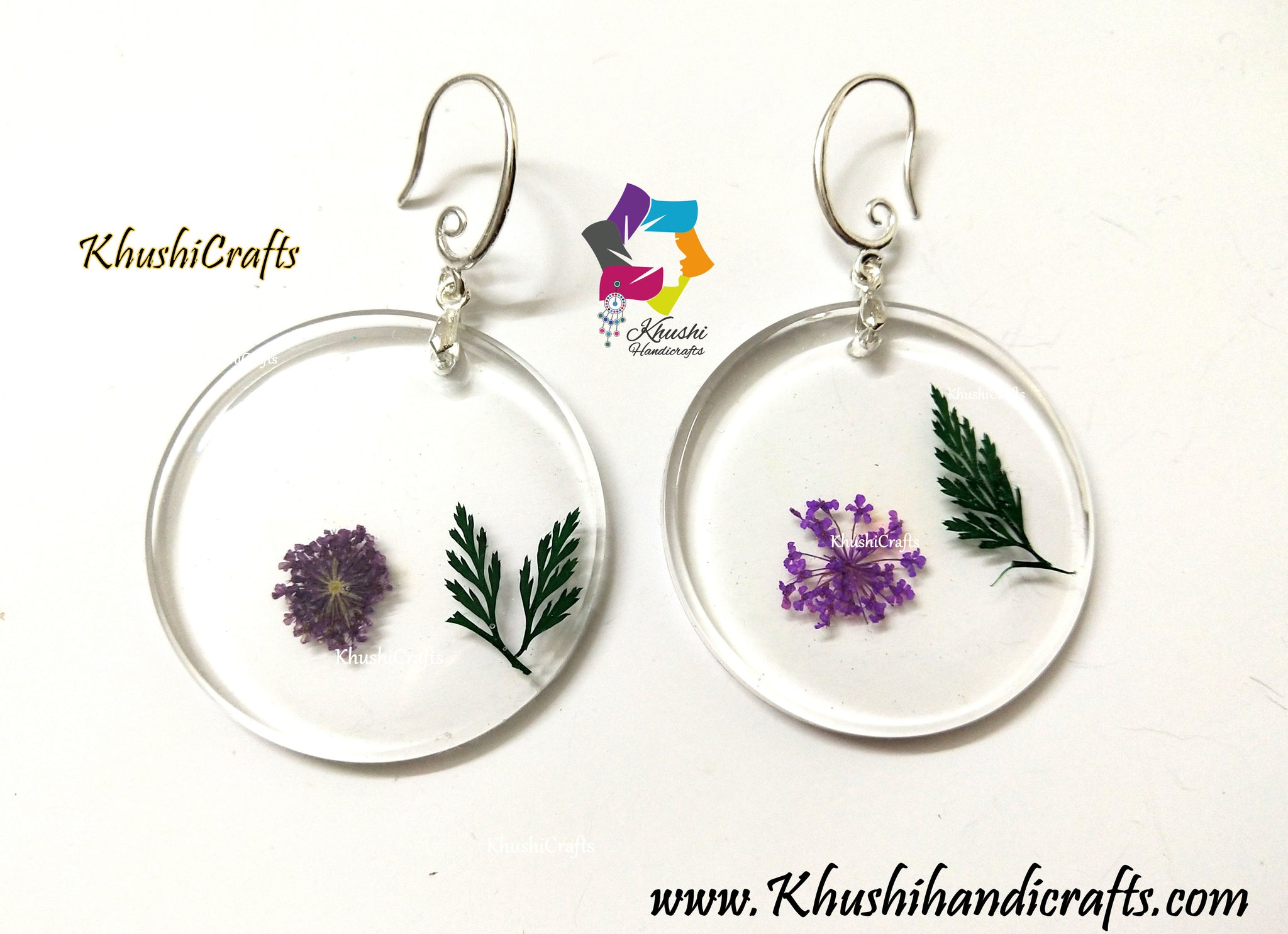 Dried Flower Resin Earrings