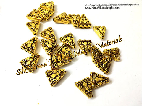 Antique Gold Triangular 1 to 3 Connector / Connectors charms! -CO13