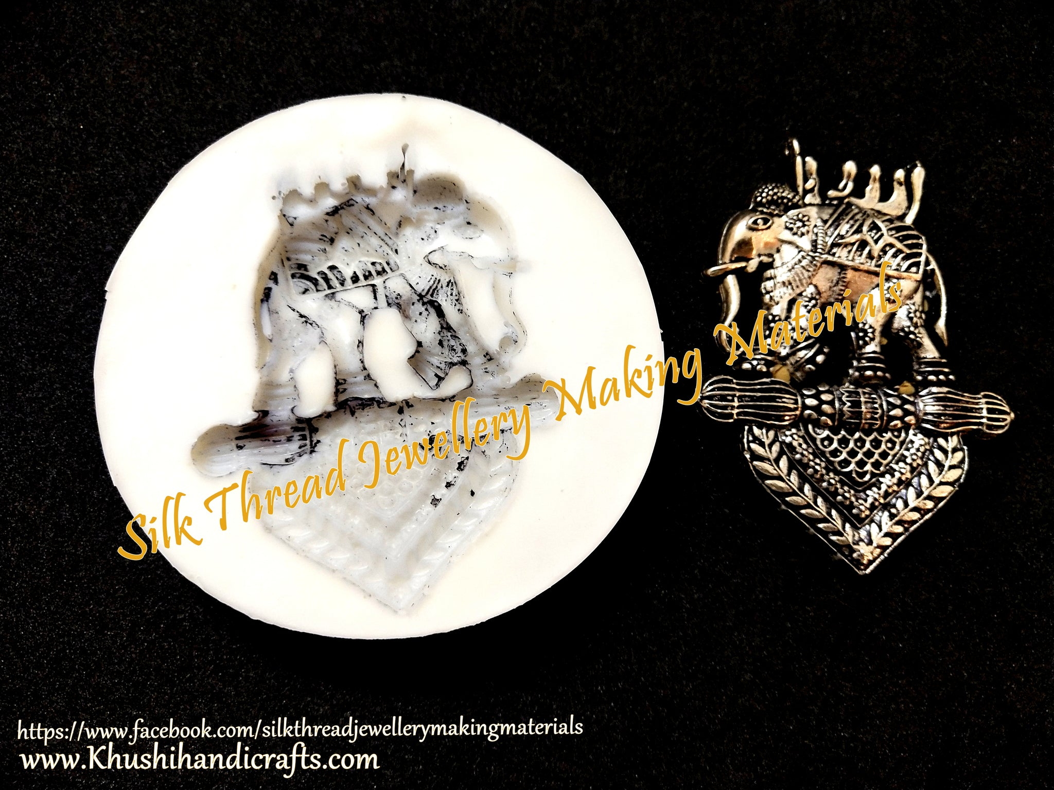 Bahubali Elephant Ambari Temple Jewellery Pendant Mould