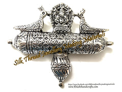Antique Silver Big Ganesha Peacock Designer Pendant