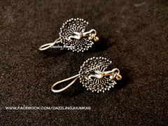 Oxidized Peacock Earrings