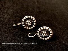 Oxidized Flower Earrings