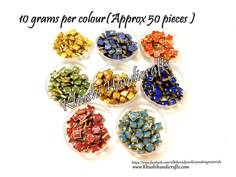 80 grams Kundan stones /Kundans Bezels Combo 6 mm for Jewellery making and craftworks!