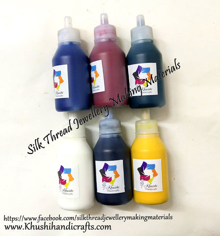 6 Colours Liquid Resin Coloring Pigments Combo for Resin Crafts and Jewellery Mold Filling