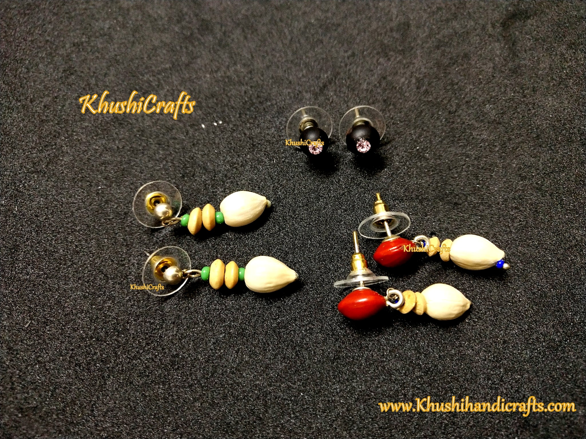 Natural seed earrings