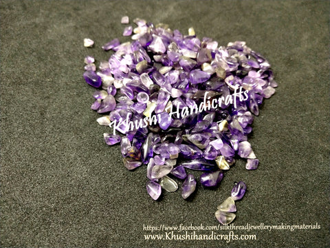 Natural Amethyst Geode Gemstone chips for Resin crafts-100 grams