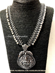 Long Oxidised set with Lakshmi Pendant