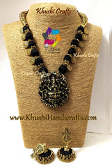 Black Silk thread Necklace Jewellery