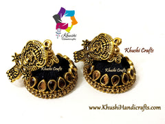 Black Silk thread jhumkas
