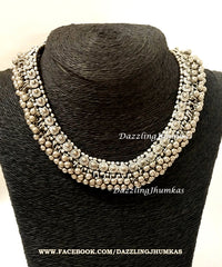 German silver necklace chocker