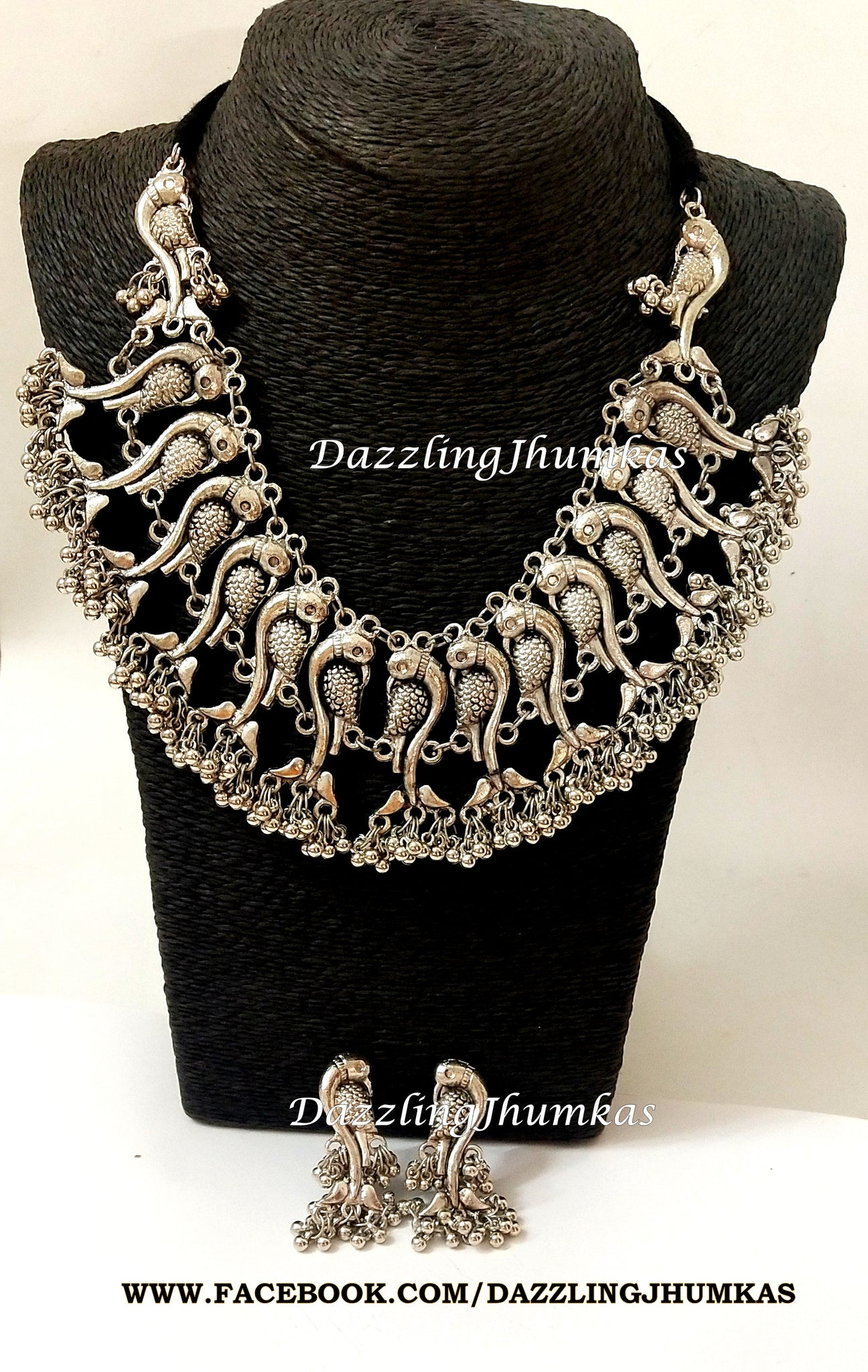 German Oxidized Parrot neck-choker