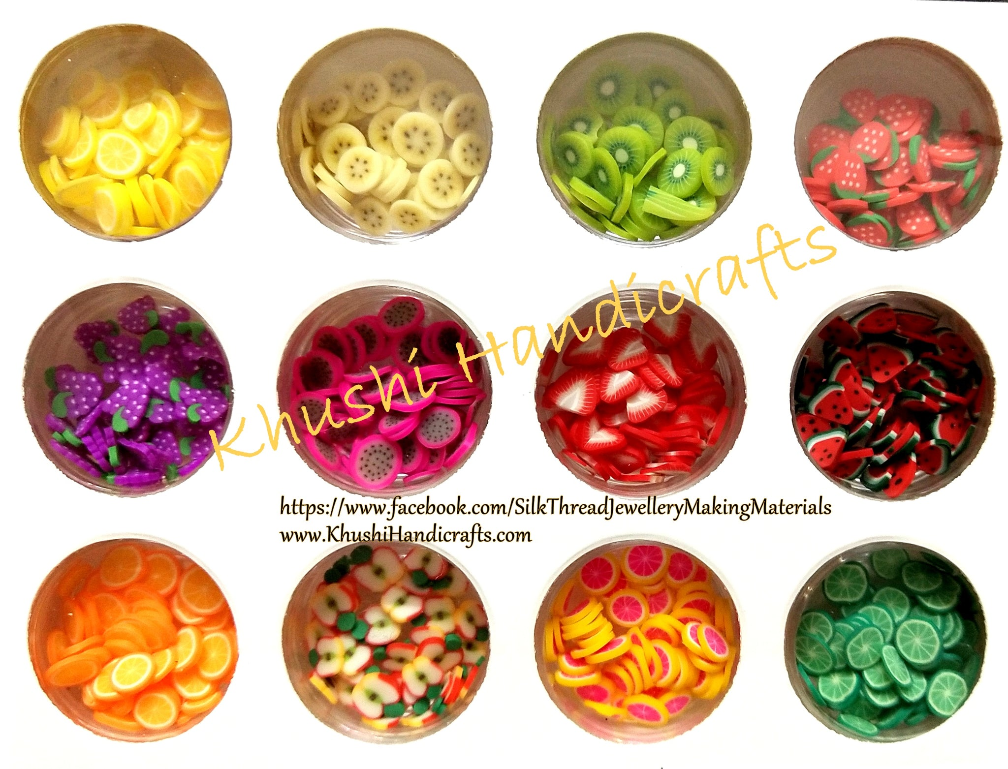 Resin filler Polymer clay fruit