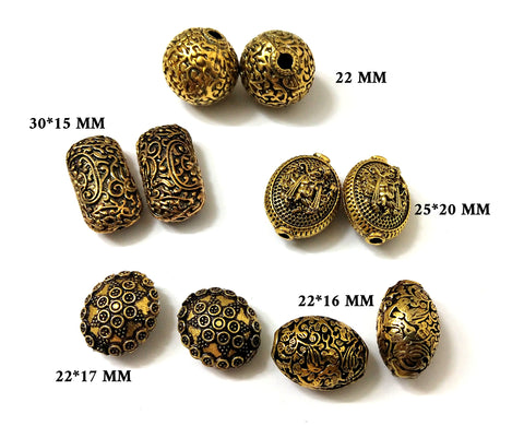 Metal Spacer beads combo!Set of 10 pieces!