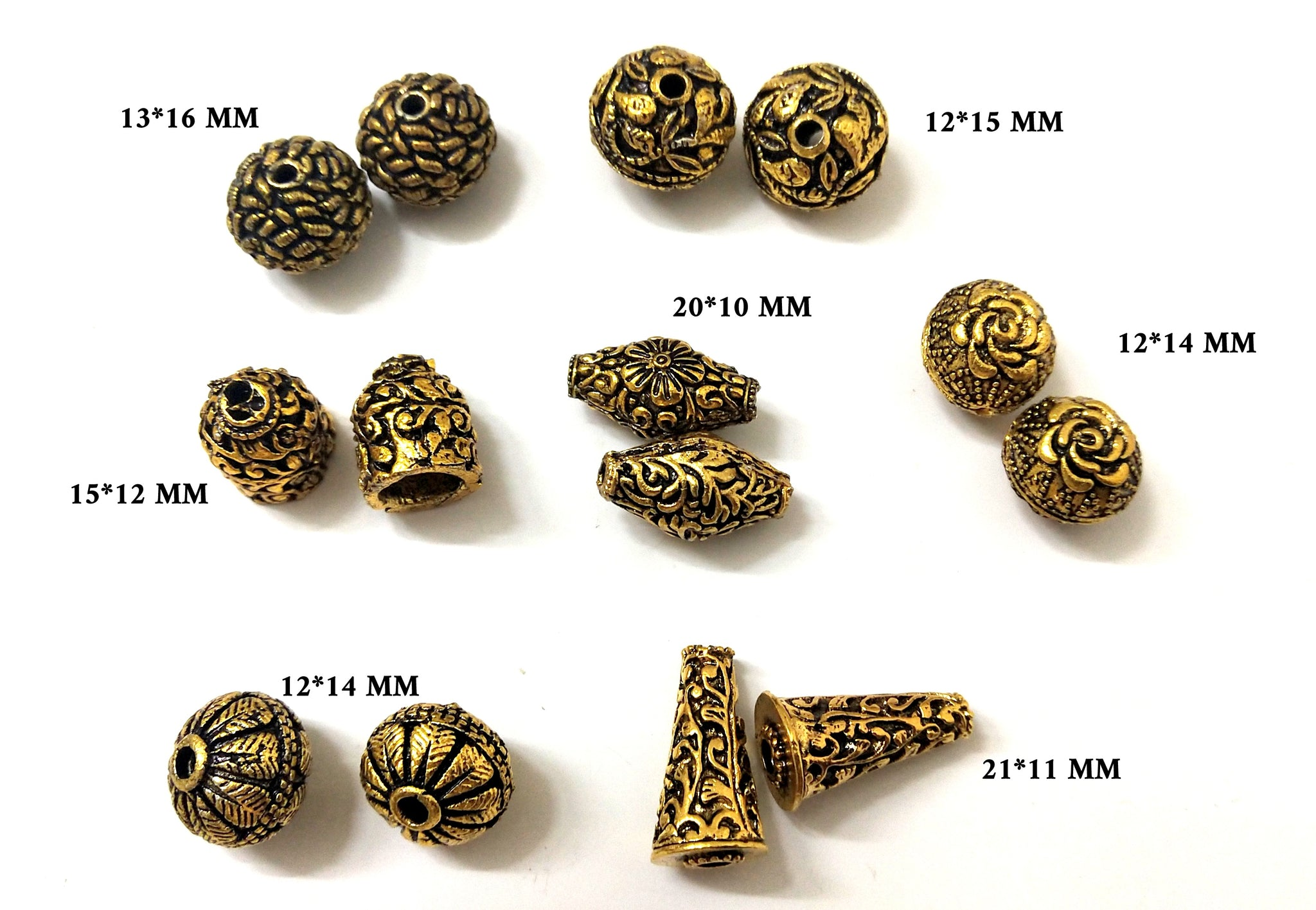 Metal Spacer beads combo!Set of 14 pieces!
