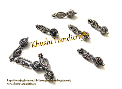 Kolhapuri Beads Antique Silver Pattern 33.Sold Per piece!