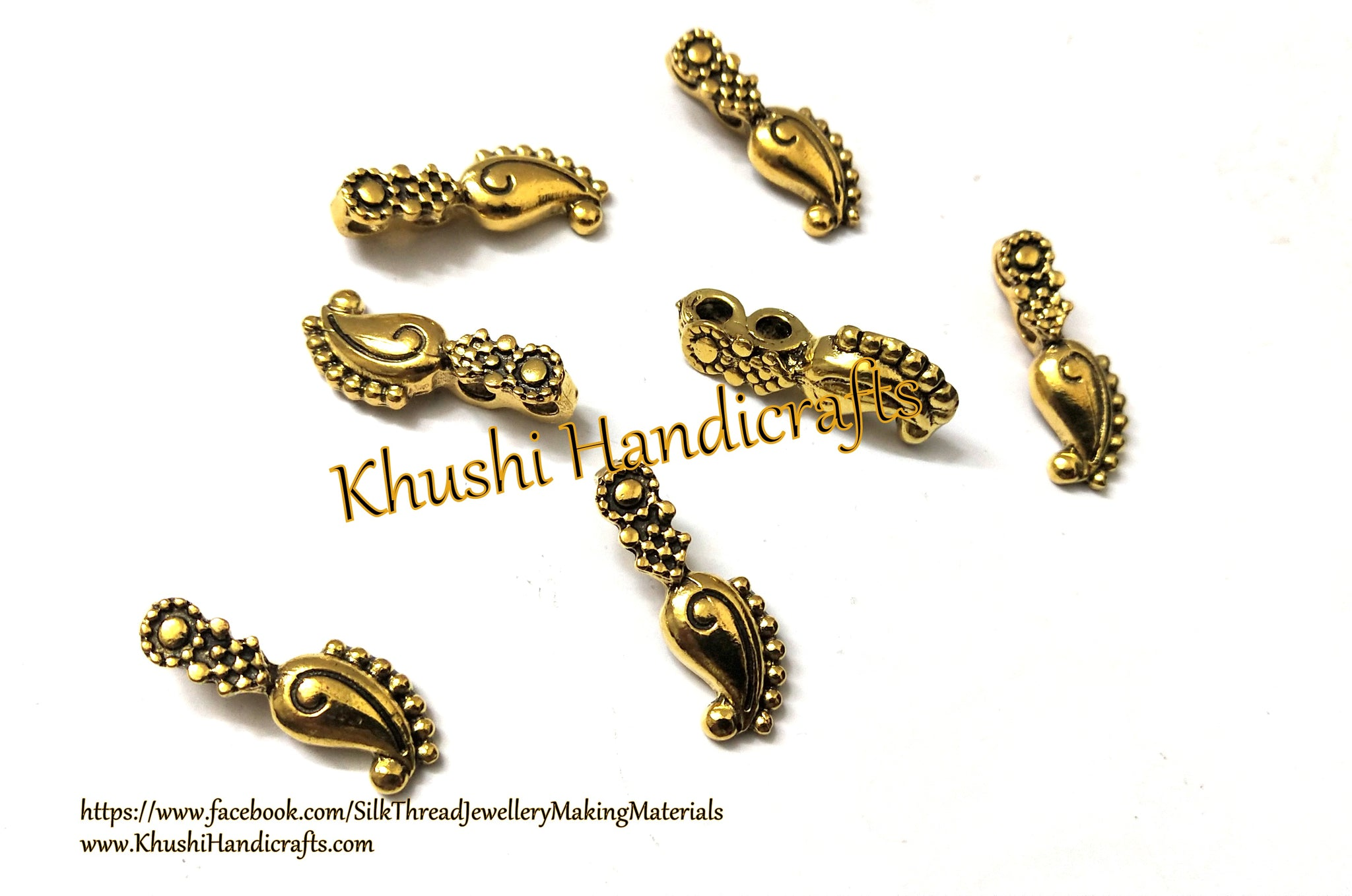 Kolhapuri Beads Antique Gold Pattern 37.Sold Per piece!