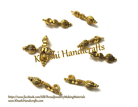 Kolhapuri Beads Antique Gold Pattern 36.Sold Per piece!