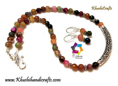 Multicolored Semiprecious Agate Necklace