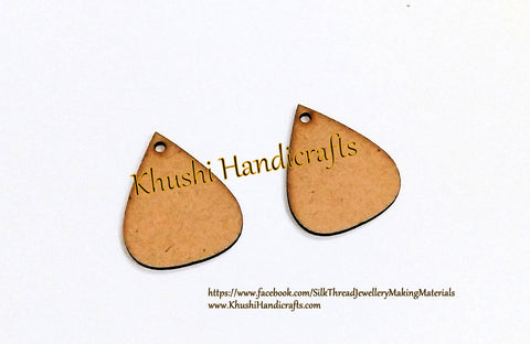 Drop MDF Earring Pendant /Key chain bases for Resin,Epoxy resin and Decoupage